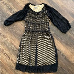 UMGEE NEW dress sz XL black see thru w/tan slip